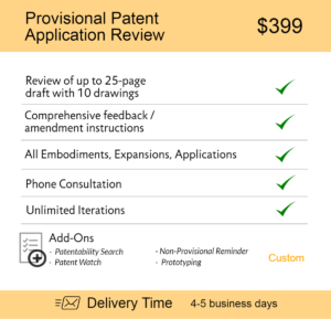 Provisional Patent Application Review