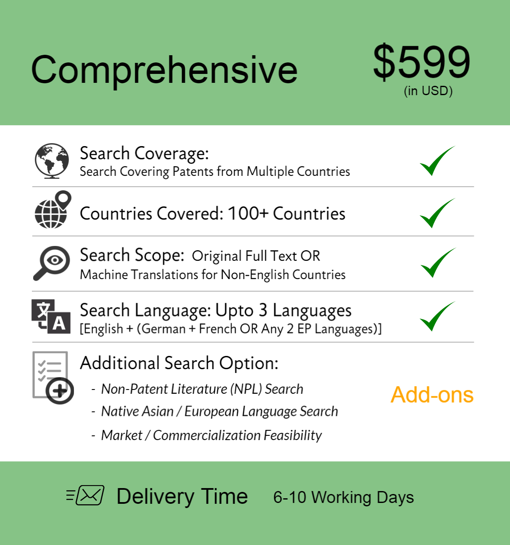 Comprehensive Patentability Searches 10