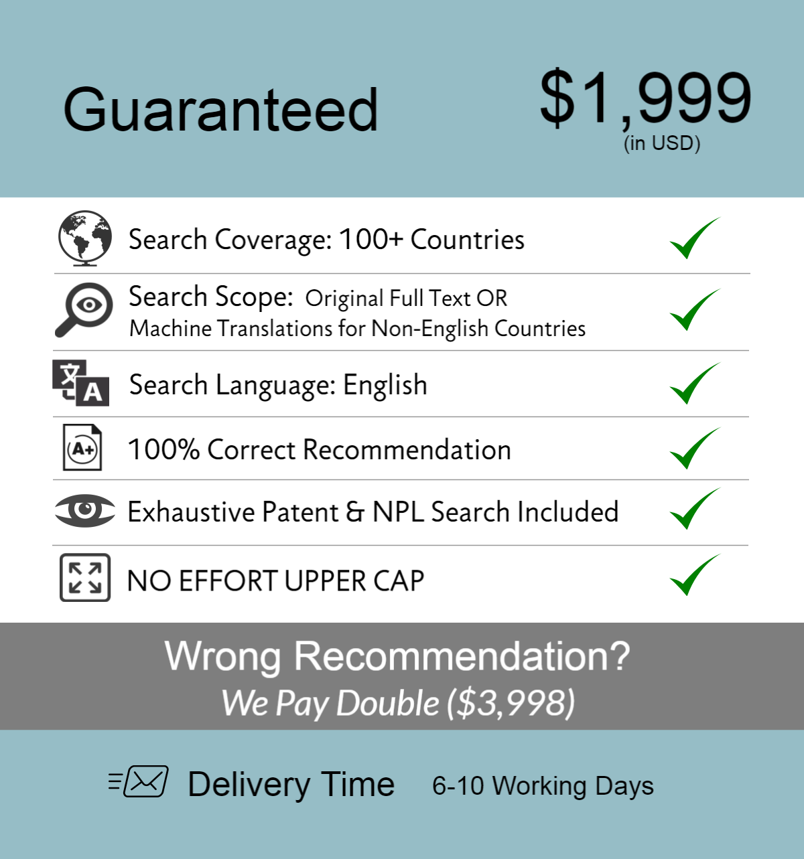 Guaranteed Patentability Search 1