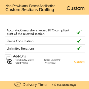 Non Provisional Patent Application Custom Sections Draftin 1