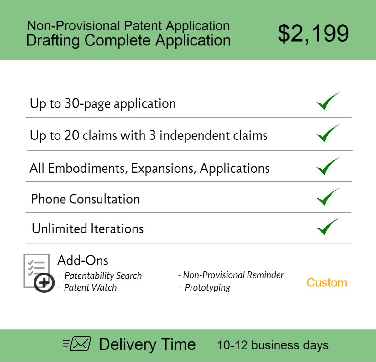 Non Provisional Patent Application Drafting Complete 4