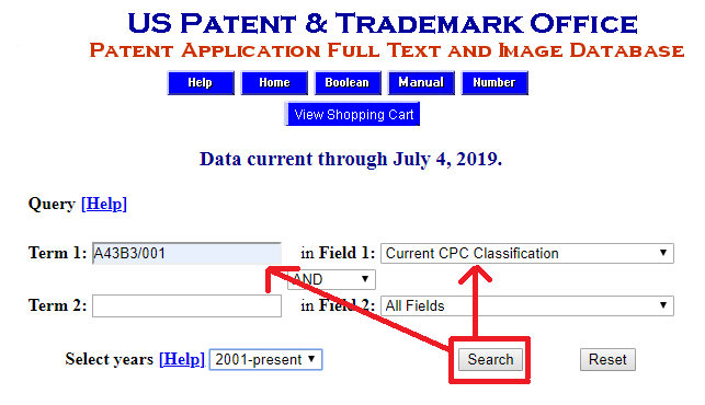 USPTO Full Text and Image Database Fields