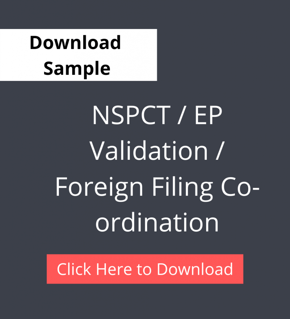 NSPCT / EP Validation / Foreign Filing Co-ordination